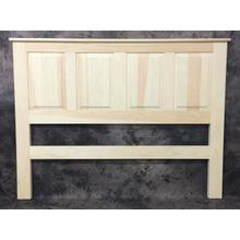 """Maine Made Pine Raised Panel Headboard Queen 65""""w X 48""""h Pine Unfinished"""