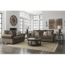 Ashley 491 Nesso Walnut Sofa and Love