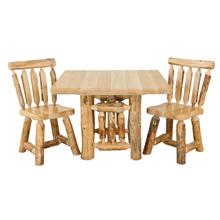 "WRP132 White Cedar 42"" Square Dining Table with Rustic Red Pine Legs"
