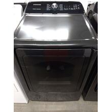 Black Top Load Samsung Washer High Efficiency (This may be a Stock Photo, actual unit (s) appearance may contain cosmetic blemishes. Please call store if you would like additional pictures). This unit carries our 6 Month warranty, MANUFACTURER WARRANTY and REBATE NOT VALID with this item. ISI 37550 B