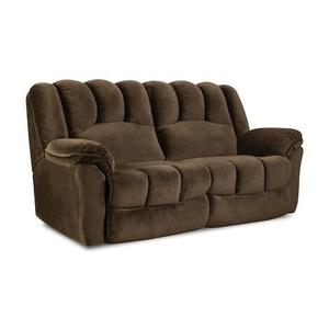 Homestretch Double Reclining Sofa with 2 Pillows