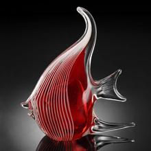 Art Glass Red Angel Fish