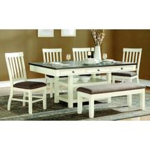 Chelsea 6 Piece Dining Set - Table, 4 Chairs and Bench