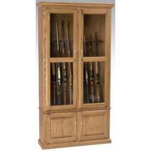 Gun Cabinet w/ 10 Gun Holders