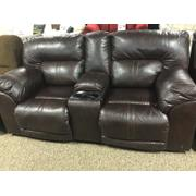 Barrettsville Double-Reclining Loveseat w/Console Product Image