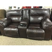 Barrettsville Double-Reclining Loveseat w/Console