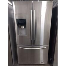 Stainless Samsung French Door Refrigerator  (This may be a Stock Photo, actual unit (s) appearance may contain cosmetic blemishes. Please call store if you would like additional pictures). This unit carries our 6 Month warranty, MANUFACTURER WARRANTY and REBATE NOT VALID with this item. ISI  40071