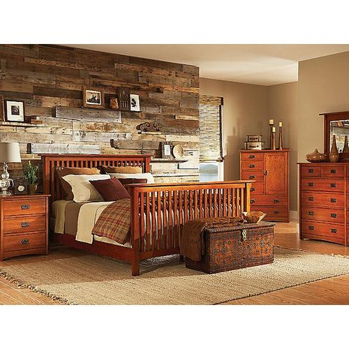Witmer Furniture - American Mission Slat Bed in Color #80