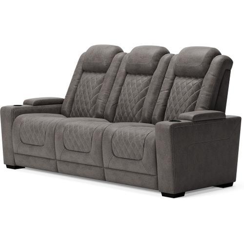 Ashley Furniture - ASHLEY 9300315 9300318 9300313 Hyllmont Gray Power Reclining Sofa, Power Reclining Loveseat & Power Recliner Group