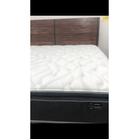 PILLOW TOP MATTRESS WITH GEL LUMBAR AND POCKETED COILS