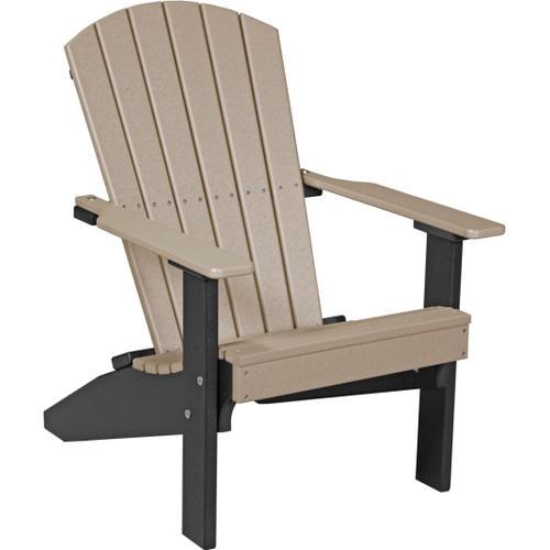 Folding Adirondack Chair Weatherwood and Black