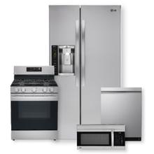 See Details - 26 cu. ft. Side-By-Side Refrigerator & 5.8 cu ft. Smart Wi-Fi Enabled Fan Convection Gas Range Package