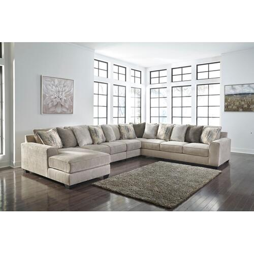 Ardsley III Sectional Pewter Left