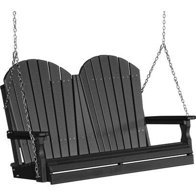 Adirondack Swing 4' Black