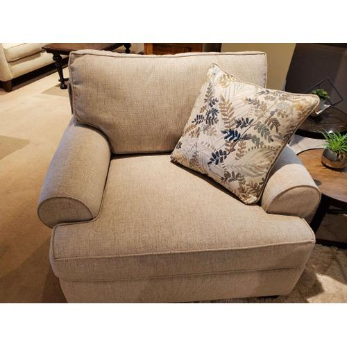 Felix Dune Chair with Fetty Citrus Pillow