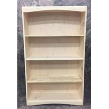 See Details - Maine Made Arched Bookcase 3 X 5 36W X 60H X 12D Pine Unfinished