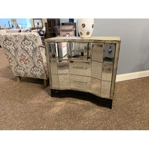 Angled Mirrored Three Drawer Chest
