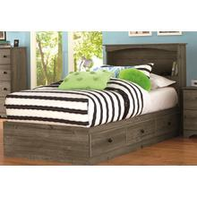 Mates Bed Twin Weathered Gray Ash