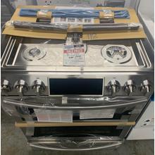5.8 cu. ft. Slide-in Dual Fuel Range with Flex Duo™ & Dual Door in Stainless Steel**OPEN BOX ITEM** Ankeny Location