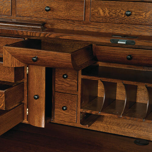 Shown in Quarter Sawn White Oak