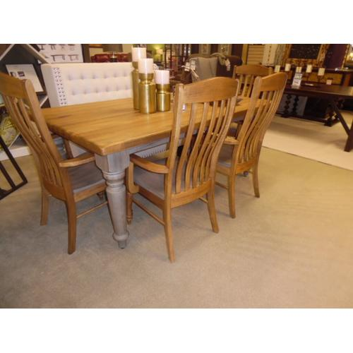 """Bench*Made Maple 72"""" Farmhouse Table and four chairs - LAST SET"""