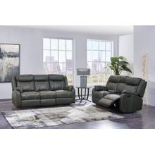 Reclining Sofa with Drop Down Table & Drawer	Gin Rummy Charcoal