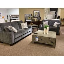 Grey Velvet Power Reclining Sofa & Loveseat