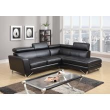BLACK 2 PC SECTIONAL