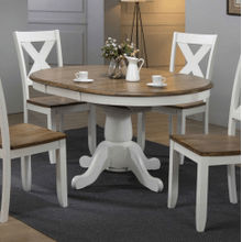 5 Piece Set (Pedestal Table and 4 Chairs)