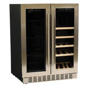 "Azure Home ProductsADA 24"" Stainless Steel Dual Zone Beverage/Wine Center"