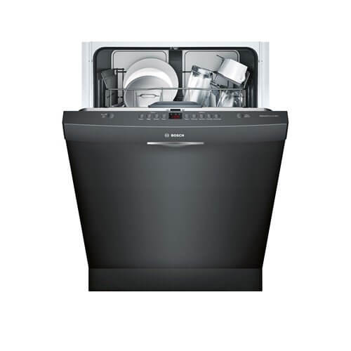 "Bosch - 24"" SCOOP HANDLE 300 SERIES DISHWASHER - BLACK FINISH (LOW PRICE FOR QUALITY DISHWASHING)"