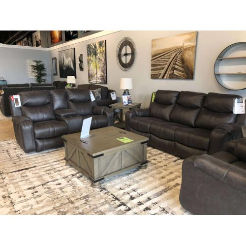 Marvel Power Reclining Sofa and Loveseat with Console