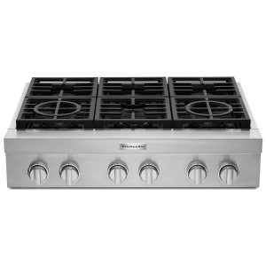 KitchenAid36'' 6-Burner Commercial-Style Gas Rangetop