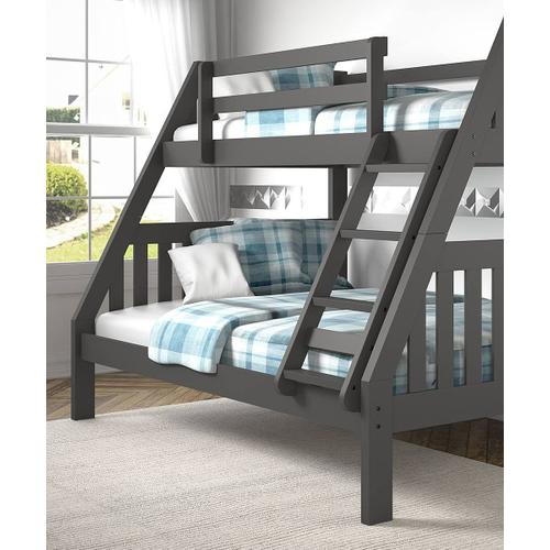 Donco Trading Company - Twin/Full Mission Bunkbed - Dark Gray