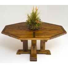 Mustang Canyon Timber Frame Pedestal Table Octagon