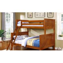 Belfort Twin over Full Bunk Bed - Rustic Pecan