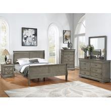 See Details - Crown Mark Louis Phillipe Grey Bedroom