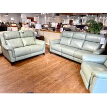 See Details - Kester Lorenzo Mint Power Leather Reclining Sofa & Loveseat
