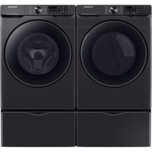 Samsung 5.0 cu. ft. High-Efficiency Black Stainless Steel Front Load Washing Machine with Super Speed and Steam ENERGY STAR and 7.5 cu. ft. 240-Volt Black Stainless Steel Front Load Electric Dryer with Steam Sanitize , ENERGY STAR