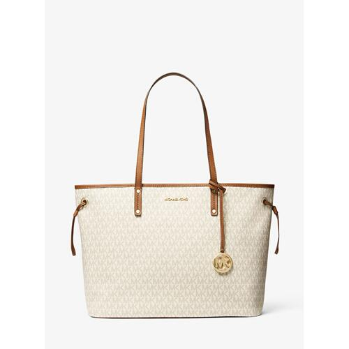 MICHAEL KORS Jet Set Travel Logo Tote Bag - Vanilla
