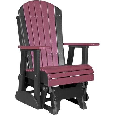 Adirondack Glider 2' Cherry and Black