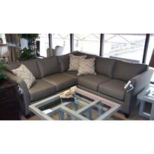 View Product - BASSETT EXPRESS 2U SECTIONAL  -  2 PIECE GRAY SECTIONAL
