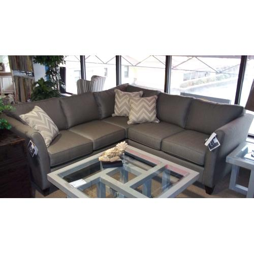 Product Image - BASSETT EXPRESS 2U SECTIONAL  -  2 PIECE GRAY SECTIONAL