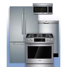 BOSCH - The More You Buy, the Bigger the Rebate! Receive up to $1,500 on Eligible Bosch Kitchen Packages. See this Gas Range 4-Pc Example.