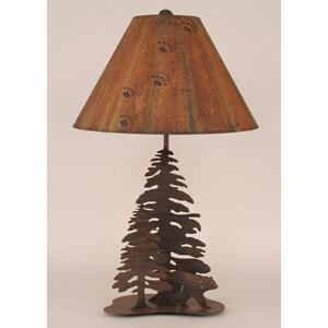 Iron Walking Bears w/ Trees Lamp