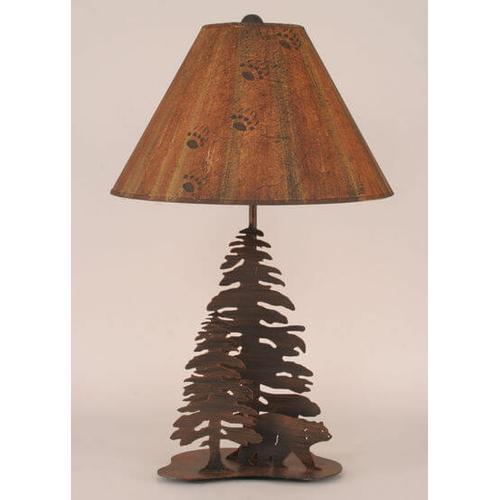 Coast Lamps - Iron Walking Bears w/ Trees Lamp