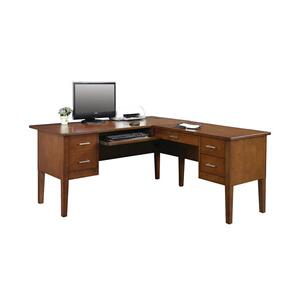 "Koncept Brown Cherry 62"" Desk with Return"