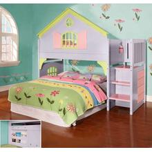 "Doll House Loft Bed w"" Storage Stairs"