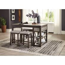 See Details - 4pc Counter Height Table Dining Set