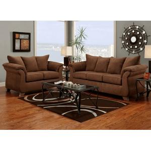 Affordable Furniture Manufacturing - ARUBA CHOCOLATE LOVESEAT      (6702-LOVE-ARUC,27154)